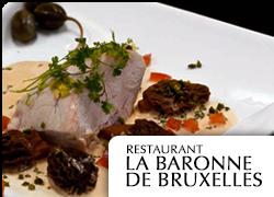 web Restaurant La Baronne de Bruxelles
